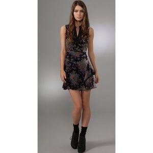 Size 12 FP Falling Leaves Velvet Burnout Dress